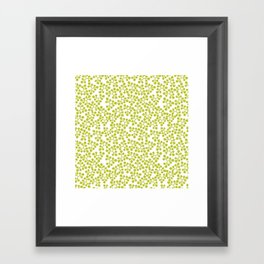 Leaves .lime Framed Art Print