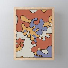 Milk & Tomato Splashes Framed Mini Art Print