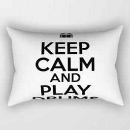 Keep Calm and Play Drums Rectangular Pillow