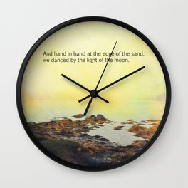 At the Edge of the Sea Wall Clock