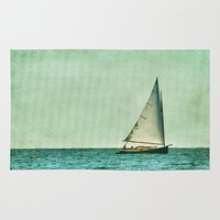 cape cod Area & Throw Rugs featuring sailing cape cod seas by marie grady palcic