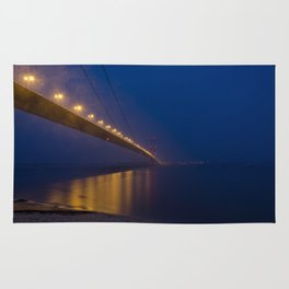 Humber bridge twilight Rug