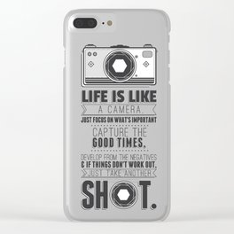 Vintage Camera Quote Clear iPhone Case