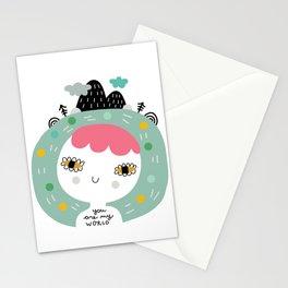 il mio mondo Stationery Cards
