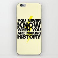 history iPhone & iPod Skins featuring HISTORY by Silvio Ledbetter