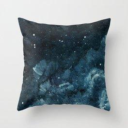 Blurry Flower Night III Throw Pillow