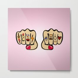 Knucks: Rose Metal Print