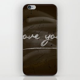 Happy Valentine's Day Design. Blackboard Background with Hand Lettering. Vector.I love you iPhone Skin