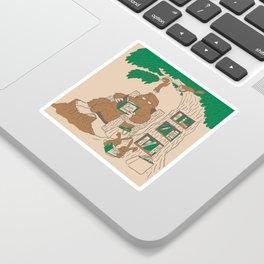 Reading with Sasquatch Sticker