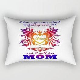 My guardian Angel, My MOM Rectangular Pillow