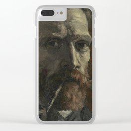 Self-Portrait with Pipe Clear iPhone Case