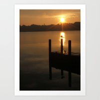 ...and let there now be light. Art Print