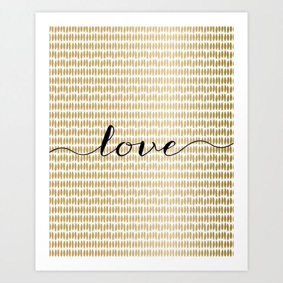 Love Gold Art Print