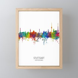 Stuttgart Germany Skyline Framed Mini Art Print