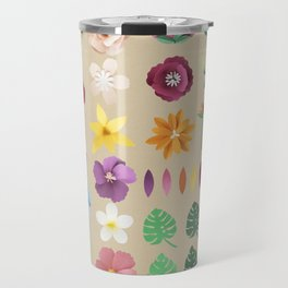 Colorful Floral Pattern Travel Mug