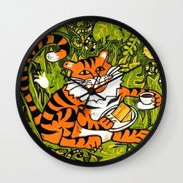 Tiger teatime Wall Clock