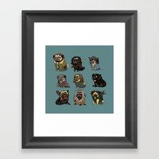 The Walking Pug Framed Art Print