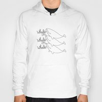 whales Hoodies featuring Whales! by Daniel Kim