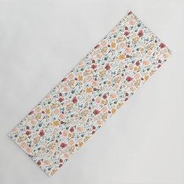 Deep Florals Yoga Mat