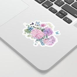 Summer Vintage Hydrangea Sticker