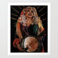 dolly parton Art Prints featuring The Ecstasy of Dolly Parton by Caitlin Harper