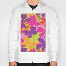 butterfly animals rainbow color purple pink green yellow Hoody