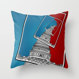 Leaning To The Right Throw Pillow