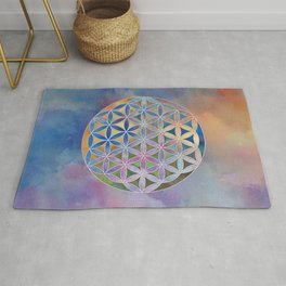 The Flower of Life in the Sky Rug
