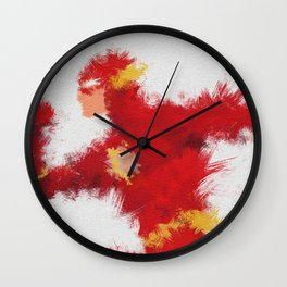 The Scarlet Speedster Wall Clock