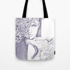 Night Of The Wolf Tote Bag