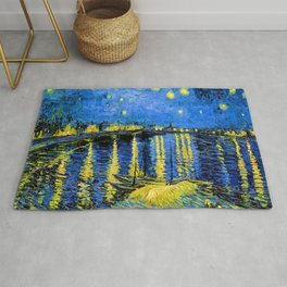 Van Gogh Starry Night Over the Rhone Rug