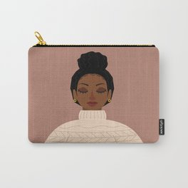 messy bun cozy sweater Carry-All Pouch