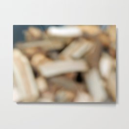 Firewood for heating the house of the deck into the oven Metal Print