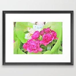 Floral Notes Framed Art Print