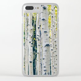 Aspen Forest Tree Bark Clear iPhone Case