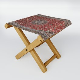 N63 - Red Heritage Oriental Traditional Moroccan Style Artwork Folding Stool
