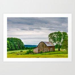 Barn In Bliss Township Art Print