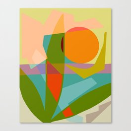 Shapes and Layers no.6 - Tropical Sunset Canvas Print
