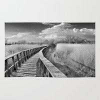 bridge Area & Throw Rugs featuring Bridge by Guido Montañés