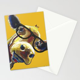 Yellow Glasses Cow, Cow up close glasses Stationery Cards