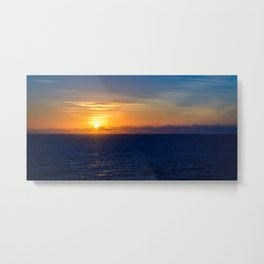 Sunset over the Timor Sea Metal Print