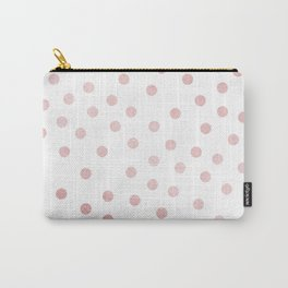 Simply Dots in Rose Gold Sunset Carry-All Pouch