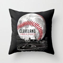 Cleveland Summer Nights Throw Pillow