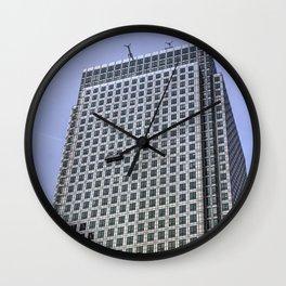 Window Cleaners Canary Wharf Tower Wall Clock
