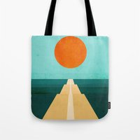 road Tote Bags featuring The Road Less Traveled by Picomodi