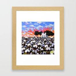 Harvest Sunset, Brooklyn Chapel Framed Art Print