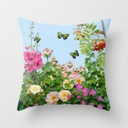 Wild Garden Throw Pillow