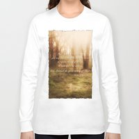 forrest gump Long Sleeve T-shirts featuring Forrest by Terri Ellis