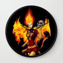Dark Phoenoix Wall Clock