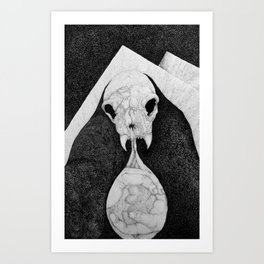 Rock Salt Gazing Art Print